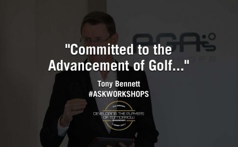 """Committed to the Advancement of Golf…"" Tony Bennett – A.S.K. Workshops"