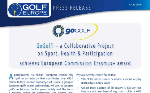 GoGolf! – A Collaborative Project on Sport, Health & Participation Achieves European Commission Erasmus+ Award