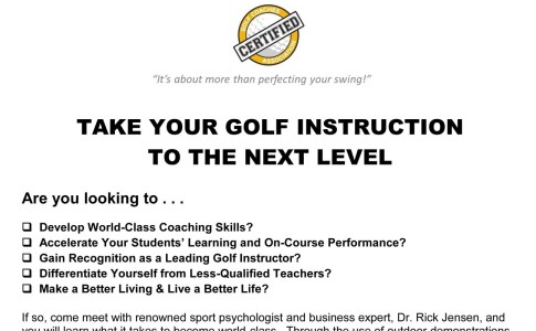 CPD: PGA of Spain – Dr Rick Jensen Coaching Seminar, 8-9 June