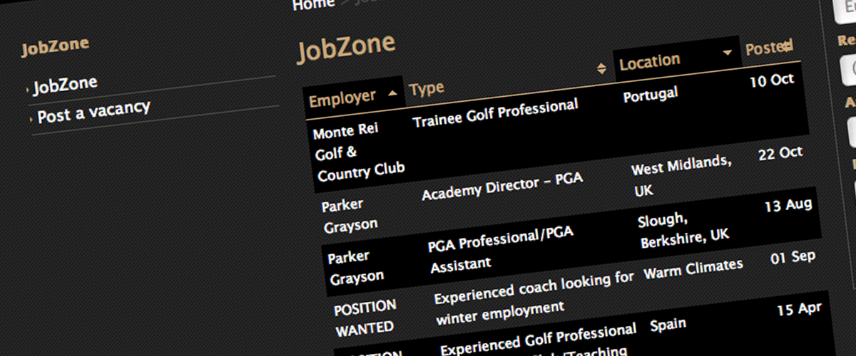 career and jobs pgas of europe - Golf Assistant Jobs