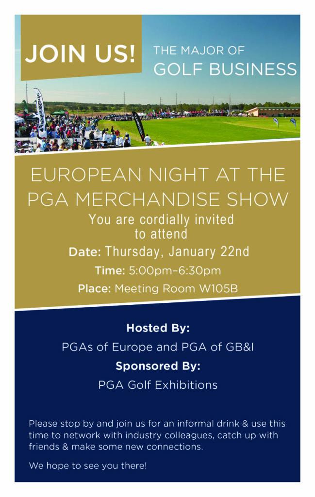 PGA Merchandise Show - European Night Invite