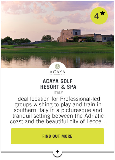 Acaya Golf Resort and Spa - PGAs of Europe Travel Club