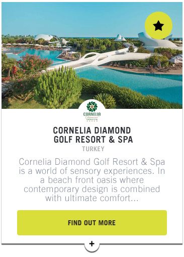 Cornelia Diamond Golf Resort and Spa - Confederation of Professional Golf Travel Club