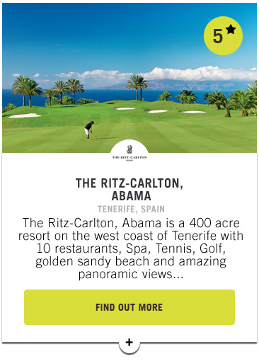 Ritz Carlton Abama - Confederation of Professional Golf Travel Club