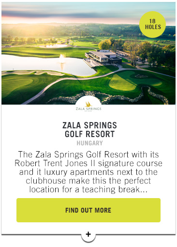 Zala Springs Golf Resort - Confederation of Professional Golf Travel Club